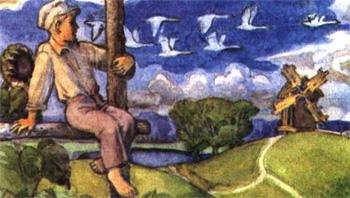 Михайло Стельмах Гуси-лебеді летять... скорочено, короткий зміст